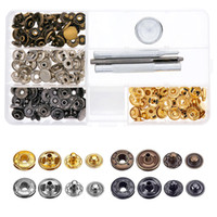 ingrosso pressofusione in pelle-Leather Craft Snap Fasteners Snaps Button Press Studs with Fixing Tools