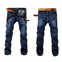 berühmte jeans großhandel-Mode Frühjahr Stretch Jeans Plus Größe 29 -44 46 48 Straight Denim Männer Berühmte Marke Jeans Herren Designer Jeans