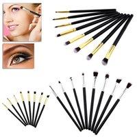 göz farı kalem fırçası toptan satış-8 ADET makyaj Fırçalar Set Göz Fırçalar Set Eyeliner Göz Farı Göz Farı Karıştırma Kalem Fırça Makyaj Fırçalar