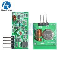 receptor transmissor sem fio de 433mhz rf venda por atacado-315 433 Mhz 315 Mhz 433 Mhz Transmissor RF E Kit Link Receiver para Arduino Módulo de Controle Remoto Sem Fio Módulo de Tensão Board