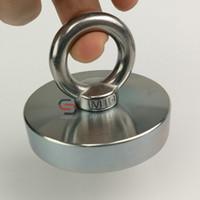 montaj için taban toptan satış-300 KG Neodimyum Kurtarma Kurtarma Kurtarma Mıknatıs Pot D74 * 16mm Metal Hazine Avcısı Bulucu Mıknatıs Montaj Tabanı