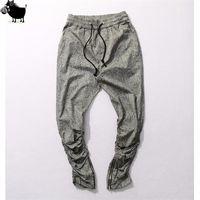 Wholesale Full Si - Man Si Tun 2017 Sweatpants Justin Bieber Kanye Fear of God Trousers Mens Joggers Jumpsuit Urban Clothing Casual Harem Men Pants