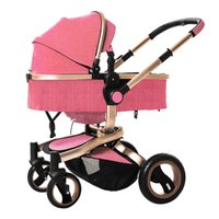 3d seat 2018 - Baby stroller European high landscape luxury baby carriage 3D stereo damping child trolley seat swivel dual-use carriage