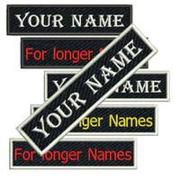 benannte kleidung großhandel-Neue benutzerdefinierte Namen Stickerei Patches Eisen auf Kleidung Jacke Schriftarten Größen verschiedenen Stil Patch