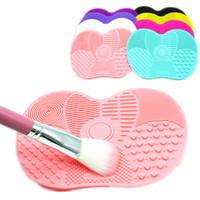 mattenbretter großhandel-Neueste Silikon Pinselreiniger Kosmetik Make-Up Waschbürste Gel Reinigungsmatte Foundation Make-Up Pinselreiniger Pad Scrubbe Board Q92