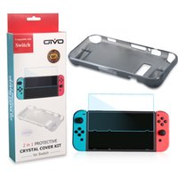 Wholesale Video Game Switches - Screen Protector Protective Case for Nintendo Switch 2 in 1 Set Video Game Console Player Accessories Bundles Crystal Cover Case for Switch