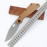 bronz bıçaklar toptan satış-OEM STRIDER SMF Bronz Devri D2 blade titanyum alaşım Kolu Katlanır Pocket Knife Taktik Avcılık Aracı Bıçak xmas hediye bıçak adam için 1 adet