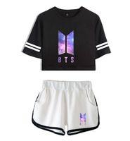 sportswear actif pour les femmes achat en gros de-Femmes Deux Pièces Survêtements Pantalons Sky Imprimer Short Shorts T-shirt manches Suits Femme Vêtements de sport active Danse Shorts Ensembles Tenues