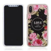 Wholesale Flexible Love - For iPhone X LOVE Floral Pattern Cover Anti gravity Soft Flexible Magic Nano Case For iPhone 8 7 plus With Retail Package