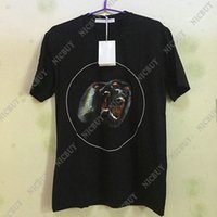 Wholesale Stars Shirts - 2018 fashion designer luxury brand clothing t-shirt give men monkey orangutan brother star round print cotton casual tshirt tee tops shirt