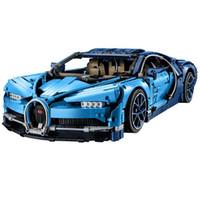 Wholesale build toy race car resale online - Le high tech machinery group Bugatti long Weilong adult assembled car racing car building blocks toys