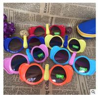 Wholesale elephant mix resale online - Kids Boys Girls Colorful Sunglasses Little Elephant Style UV400 Protection Cute Shades Eyewear Sunglasses
