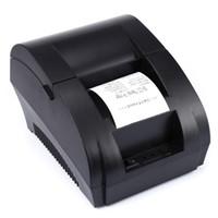 réception blanc noir achat en gros de-2018 Mini 58mm Noir et Blanc Manuel Réception POS Ticket Universel Imprimante Thermique avec Port USB Livraison Gratuite
