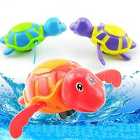 Wholesale Wind Up Turtles - Cute turtle swim animal wound-up chain clockwork baby kids bathing toy for bathroom gift baby water fun Toys