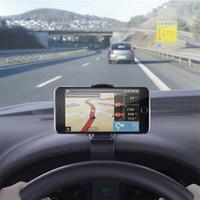klipsli telefon askısı toptan satış-Evrensel Araç Telefonu Tutucu Ayarlanabilir Pano Montaj Klip Mobil Akıllı telefon GPS iphone 6 6 s 7 8 Artı Braketi Standı