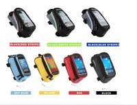 Wholesale roswheel frame bag resale online - ROSWHEEL BRAND BICYCLE BAGS CYCLING BIKE FRAME IPHONE BAGS HOLDER PANNIER MOBILE PHONE BAG CASE POUCH Moutain Bike Frame Storage