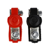 Wholesale car truck red online - 1Pair Battery terminal connector Clamp Clips Negative Positive for Auto Car Truck Caravan Boat Motorhom Red Black V V