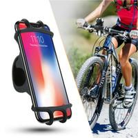 universal-fahrradhalterung großhandel-Fahrrad handyhalter für iphone samsung universal handyhalter fahrrad lenker clip ständer gps halterung