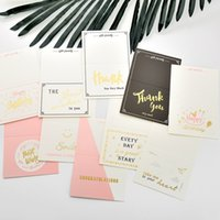 Wholesale birthday wedding wishes - Creative Rectangle Greeting Cards Evety Day Happy Birthday Best Wishes Wedding Invitations Paper Thank You Blessing Card Fashion 0 55ql cc