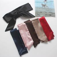 versátiles correas de vestir al por mayor-Cinturones sencillos y versátiles. Cinturones de tela de satén. Cinturones de las señoras. Correas anchas decoradas con vestidos de camisa.