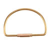 organizador de llaves portátil al por mayor-3 Estilo creativo Brass Key Ring hecho a mano retro masiva clave organizador del sostenedor del bolsillo portable de camping herramientas al aire libre