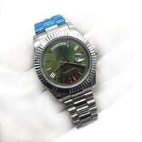 Wholesale mens crystal wrist watches for sale - Group buy Top Luxury Mens Watch Day Date Sapphire Crystal K Rose Gold Roma Number Stainless Steel Men Watches Automatic Mechanical Male Wrist Watch