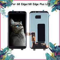 ingrosso schermo di scorrimento-Display LCD per Samsung S8 Edge Touch Screen G955 G950A Nero Repair Screen Digitizer per Samsung S8 LCD Galaxy S8 Edge Plus