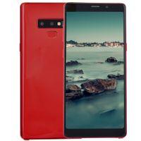 примечание 13 оптовых-Отпечаток пальца Goophone Note9 Note 9 1 ГБ 8 ГБ + 32 ГБ 3G WCDMA ID лица Четырехъядерный процессор MTK6580 Android 7.0 13-мегапиксельная камера GPS Dual Nano Sim-карта смартфона