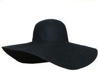 Wholesale strawhat for sale - Group buy Women s white hat summer black oversized sunbonnet beach cap women s strawhat sun hat summer hat
