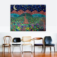 Wholesale Moon Cartoon Pictures - Under The Moon Of Grapes Modern Wall Pictures For Living Room Painting Wall Painting Picture Canvas Art No Frame