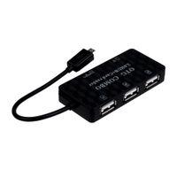 venta de tarjetas mmc al por mayor-Nueva venta caliente 3 puertos Micro USB OTG adaptador USB 2.0 HUB + SD MMC TF lector de tarjetas múltiples combinado para Samsung Galaxy S3 S4 S5 NOTA 2 3