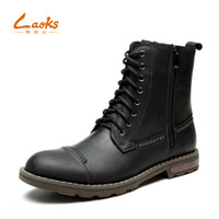Wholesale Korean Knee High Boots - Cylinder Boots male Korean version of the winter Genuine Leather bootsmen's boots leather casual high help England pointed toesBullock boo