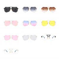 Wholesale Quality Visual - Modern Rimless Frog Mirror High Definition Visual Men Women Sunglasses Anti Ultraviolet Irregular PC Sun Glasses High Quality 14jr B