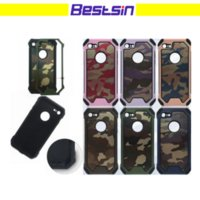 Wholesale iphone camo - Army Camo Camouflage Pattern Design Phone Case For Iphone 6 to X Samsung S7 S8 Free DHL