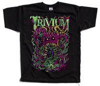 banda de metal impressão venda por atacado-Trivium, American Heavy Metal Banda, cartaz T-SHIRT (PRETO) S-5XL