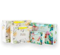 tier papiertüten großhandel-Tier Serie Verpackung Früchtetee druckpapierbeutel Papiertüte Flamingo Geschenktüte 18 * 16 * 6 cm