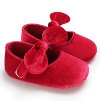 носки первого ходунки оптовых-2018 Hot Spring Summer Newborn Toddler Shoes Velvet Bow Princess Soft Socks Fashion Baby Girl The First Walker