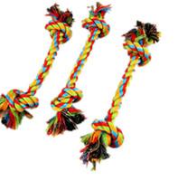 hochwertige möbel großhandel-Hundemolaren Baumwolle Knoten Seil Krawatte Welpen liefert Katze spielt Pet Toys schützen Möbel Hunde Kauspielzeug Spielzeug High-Quality