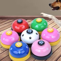 Wholesale large breed cat - Round Mini Pet Call Bell Chunky Durable Cat Dog Small Bells Footprint Pattern Puppy Training Supplies 3 95nj B