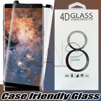 Wholesale Glass Phone Front - For Samsung Galaxy Note 8 Note8 S8 Plus S7 Edge Case Friendly 3d Curved Tempered Glass Case Version Phone Screen Protector With Package