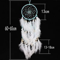 Wholesale marriage music - Cheap decoration Indian White Dream Catcher Wall Hanging Decoration Circular Feathers Dreamcatcher Ornament High Quality gift gifts