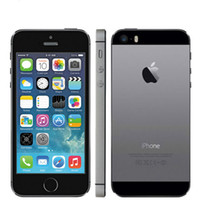 Wholesale iphone 5s 4g - Original Unlocked Apple iPhone 5S 16GB 32GB ROM IOS Touch ID Fingerprint 4.0'' A7 IPS 4G LTE Refurbished Cell Phones
