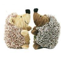 cão hedgehog venda por atacado-Pet Dog Squeaky Som Brinquedo De Pelúcia Ouriço Ovelha Gato Urso Do Gato Do Filhote De Cachorro Chew Formação Toy Pet Animais Squeaky Brinquedo KKA6070