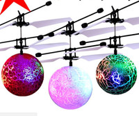 Wholesale helicopter li for sale - Group buy Mini Flying RC Ball Rcool Crystal Hand Suspension Helicopter Aircraft Infrared Sensing Induction Flying Ball Drone Toy with Colorful LED Li