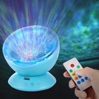 ozeanwellenprojektorlautsprecher großhandel-Audio-Lautsprecher tragbarer Mini-Projektor führte Ocean Wave Starry Aurora LED Nachtlicht Projektor Luminaria Neuheit Lampe USB