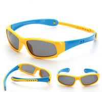 Wholesale Cute Black Children - Cute polarized riding Kids sunglasses Outdoor Sport summer Silica gel Children Halter Sunglasses UV400 Protection 16 colors LJJG27