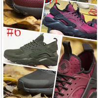 Wholesale Golf Shoes For Women - Newest Huarache 4 IV Running Shoes For Men Women, Black White Grey High Quality Sneakers Triple Huaraches Jogging Sports Shoes Eur 36-45
