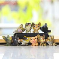 ingrosso grande figura di azione testa-10 pz / set Zakka Drogheria Modelli Carino Desktop Decorazione Artigianato Big Head Dog FAI DA TE Action Figures Toy Doll