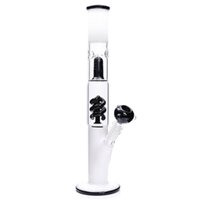 Wholesale black coil - Glass Bong White & Black Milky glass water pipe coil condenser spiral percolator two funcation grace bongs 14""