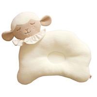ingrosso letti organici-2PC Kids Sleeper Positioner Cuscino in cotone biologico per neonati Animali Stereotipi Cuscino Cuscino per il sonno bilanciato Cuscini per l'allattamento
